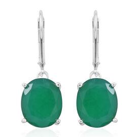 Verde Onyx (Ovl) Lever Back Earrings in Sterling Silver 8.000 Ct.