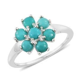 Mexican Turquoise (2.00 Ct) Sterling Silver Ring  2.000  Ct.