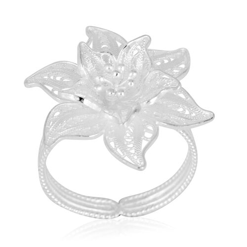 Royal Bali Collection Sterling Silver Ring, Silver wt 3.63 Gms.