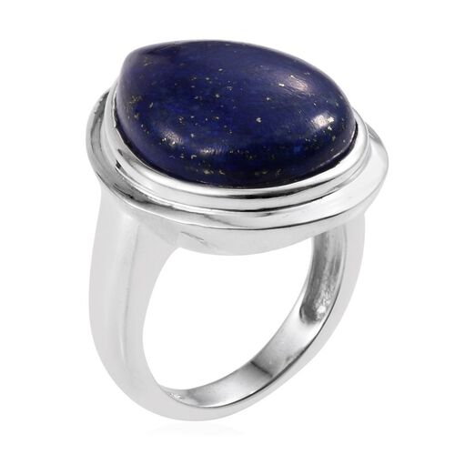 Lapis Lazuli (Pear) Ring in Sterling Silver 17.500 Ct.
