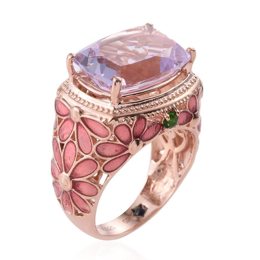 GP Rose De France Amethyst (Cush), Russian Diopside and Kanchanaburi ...