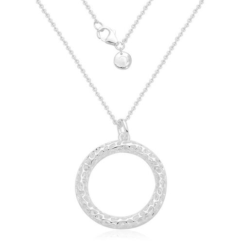 RACHEL GALLEY Rhodium Plated Sterling Silver Allegro Pendant With Chain (Size 30), Silver wt 12.20 Gms.