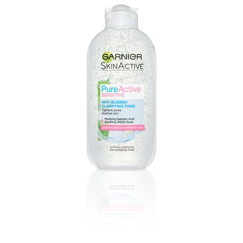 Garnier Pure Active Sensitive Anti-Blemish Clarifying Tonic 200ml