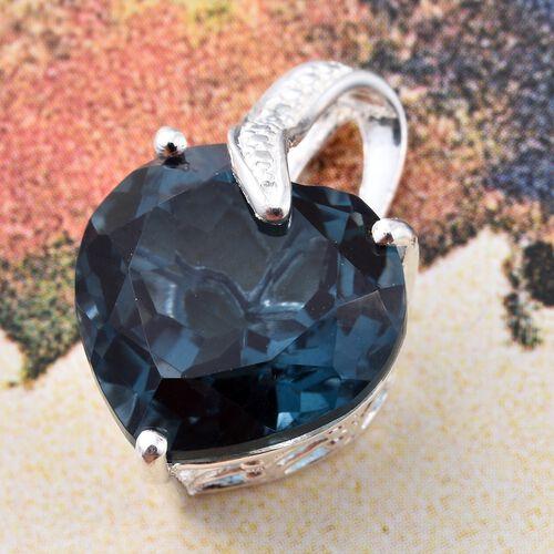 Indicolite Quartz (Hrt) Pendant in Sterling Silver 10.000 Ct.