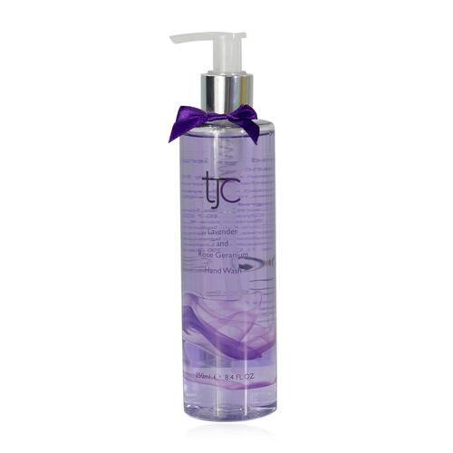 TJC Lavender and Rose Geranium Hand Wash Pump 250ml