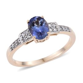9K Y Gold Tanzanite (Ovl 1.00 Ct), Natural Cambodian Zircon Ring 1.150 Ct.