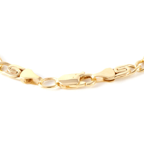 Designer Inspired - Italian Made Vicenza Collection Scroll Bracelet 9K Y Gold Bracelet (Size 8), Gold wt 4.00 Gms.
