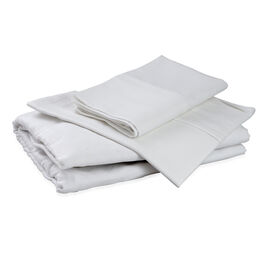 100% Cotton White Colour Single Fitted Sheet (Size 190x90 Cm) and One Pillow Case (Size 75x50 Cm)