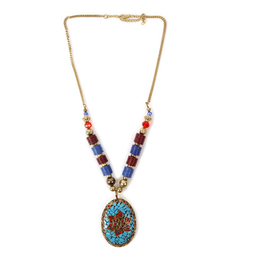 Jewels of India Necklace (Size 22) with Brass Pendant