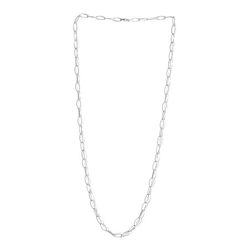 JCK Vegas Collection Sterling Silver Diamond Cut Open Circle Necklace (Size 30), Silver wt 6.00 Gms.