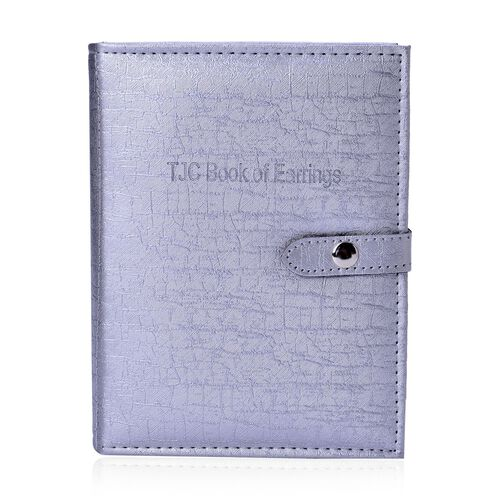 TJC Book of Earrings in Light Grey Colour (Size 19X14.7X5 Cm)