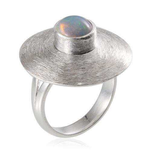 Jewels of India Ethiopian Welo Opal (Rnd) Ring in Sterling Silver 1.180 Ct.