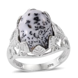 Norseman Dendritic Opal (Ovl) Solitaire Ring in Sterling Silver 9.940 Ct.