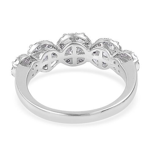 ILIANA 18K White Gold IGI Certified 1 Carat Diamond (SI/G-H) Ring