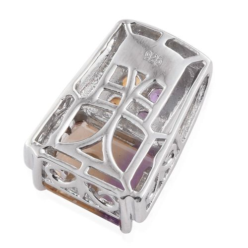 Anahi Ametrine (Oct 2.75 Ct), Amethyst and Citrine Pendant in Platinum Overlay Sterling Silver 3.230 Ct.