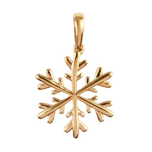 Snowflake Silver Charm Pendant in Gold Overlay, Silver wt 1.61 gms