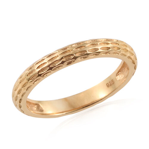 14K Gold Overlay Sterling Silver Band Ring, Silver wt. 2.19 Gms.