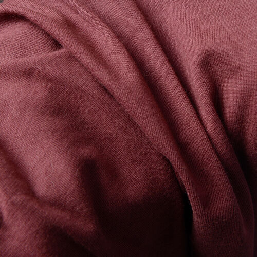 100% Cotton Burgundy Colour Cutout Shoulder Top (Size 75X55 Cm)
