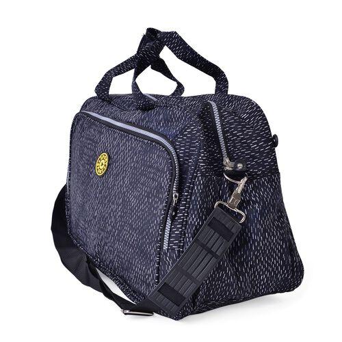 Lightweight Water Resistant Weekend Travel Bag with Adjustable Shoulder Strap (Size 47X31X20 Cm)