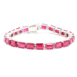 African Ruby (Oct) Bracelet in Sterling Silver (Size 8) 48.750 Ct.