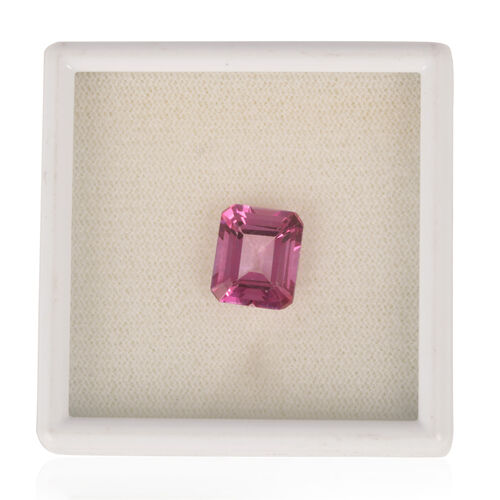 (Option 2) Mystic Pink Coated Topaz (Oct 12x10 mm Faceted 2A) 5.550 Ct.