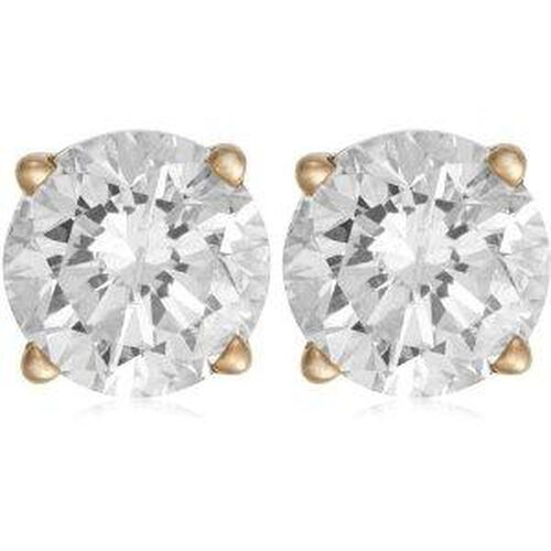 Close Out Deal 14K Y Gold EGL Certified Diamond (Rnd) (G-H I1-I2) Earrings 0.500 Ct.