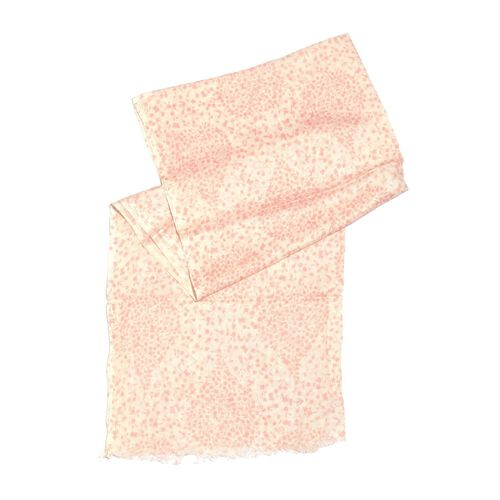Pink and White Colour Floral Printed Scarf (Size 180x70 Cm)