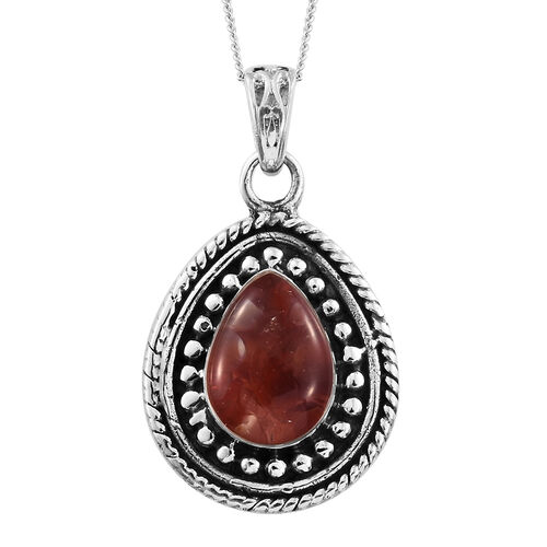 Jalisco Fire Opal Pendant with Chain in Sterling Silver 1.430 Ct.Sterling Silver Wt. 6.5 Gms