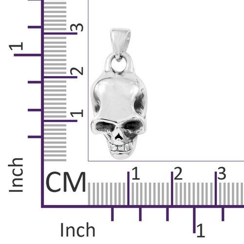 Thai Sterling Silver Skull Pendant