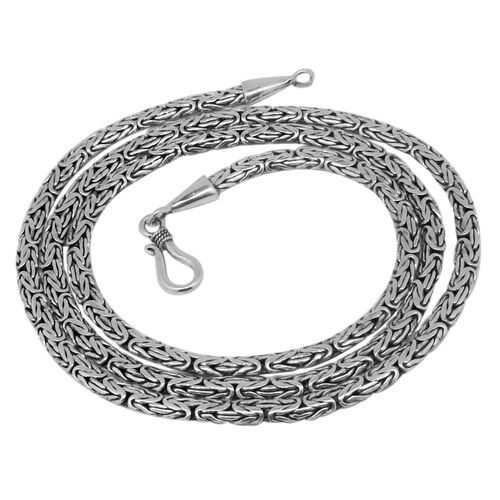 Royal Bali Collection Sterling Silver Borobudur Necklace (Size 24), Silver wt. 27.01 Gms.