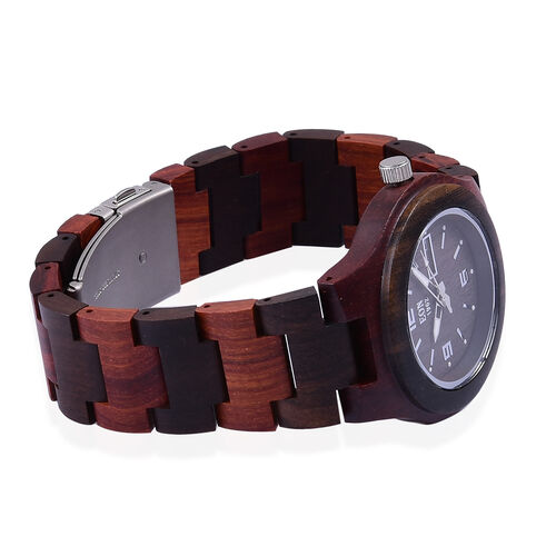 EON 1962 Sandalwood Watch with Chocolate Colour Strap with Date Movement