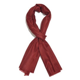 Limited Available - 100% Fine Cashmere Wool Burgundy Colour Shawl (Size 200x70 Cm)