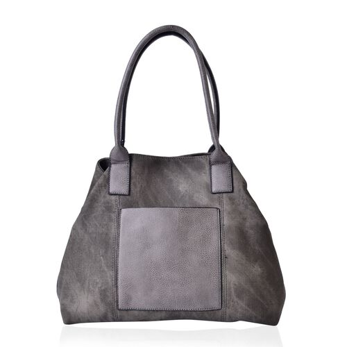 Grey Colour Weekend Bag with External Zipper Pocket (Size 52x36x29x16 Cm)