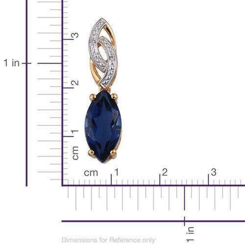 Ceylon Colour Quartz (Mrq 4.50 Ct), Natural Cambodian Zircon Pendant in 14K Gold Overlay Sterling Silver 4.520 Ct.