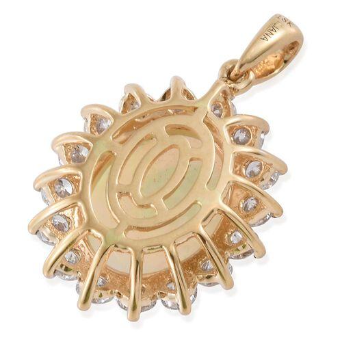 Signature Collection-ILIANA 18K Yellow Gold AAAA Ethiopian Welo Opal (Ovl 3.25 Ct), Diamond (SI/G-H) Pendant 4.300 Ct.
