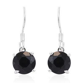 Boi Ploi Black Spinel (Rnd) Hook Earrings in Sterling Silver 5.250 Ct.