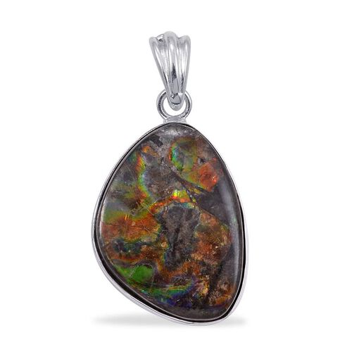 Jewels of India Ammolite Pendant in Sterling Silver 17.200 Ct.