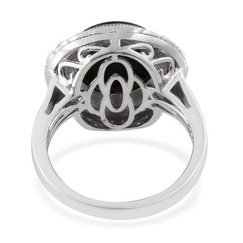 Goldenite (Rnd) Solitaire Ring in Platinum Overlay Sterling Silver 4.500 Ct.