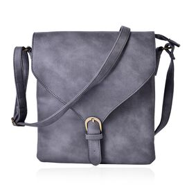 Cambridge Classic Grey Crossbody Bag with Adjustable Shoulder Strap (Size 27x24x2 Cm)