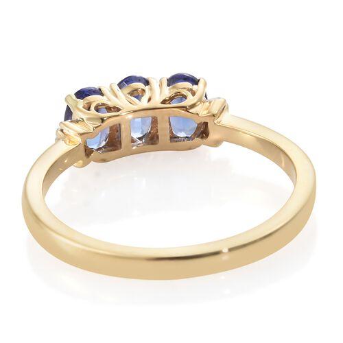 Iliana AAA Tanzanite (1.50 Ct) and Diamond 18K Y Gold Ring  1.550  Ct.