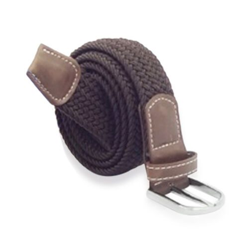 Chocolate Colour Mens Jeans Belt with PU Trim