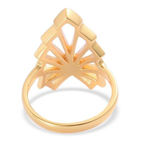 LucyQ Art Deco Ring in Yellow Gold Overlay Sterling Silver 5.30 Gms.