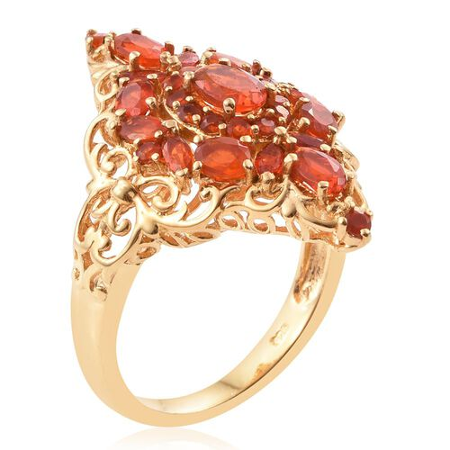 Limited Edition- Jalisco Fire Opal (Ovl) Ring in 14K Gold Overlay Sterling Silver 1.890 Ct.