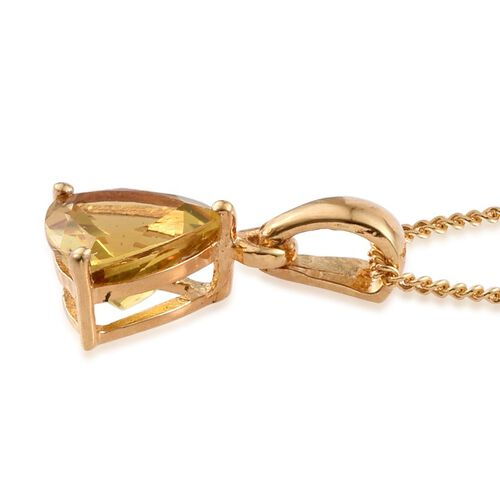 Marialite (Trl) Solitaire Pendant With Chain in 14K Gold Overlay Sterling Silver 1.000 Ct.