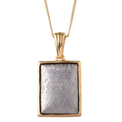 Meteorite (Bgt) Pendant With Chain in 14K Gold Overlay Sterling Silver 17.000 Ct.