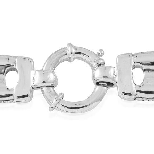 Designer Inspired-Sterling Silver Mariner Link Bracelet (Size 7.5), Silver wt. 22.41 Gms.