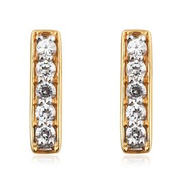 1 Carat Natural Cambodian Zircon Earrings in Gold Plated Silver (with Push Back)