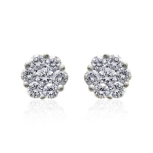 ILIANA 18K W Gold IGI Certified Diamond (Rnd) (SI/G-H) Stud Earrings (with Screw Back) 0.250 Ct.