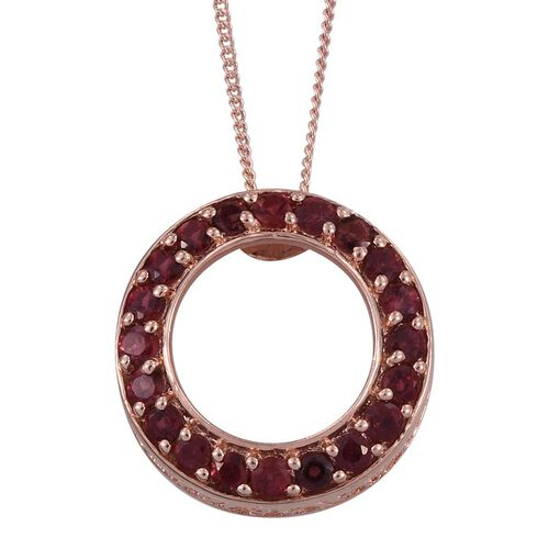 Mahenge Spinel (Rnd) Circle of Life Pendant With Chain in Rose Gold Overlay Sterling Silver 0.850 Ct.