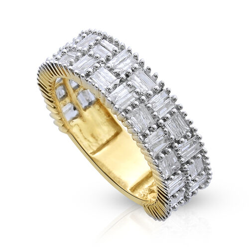 9K Y Gold SGL Certified Diamond (Bgt) (I3/G-H) Ring 1.000 Ct.